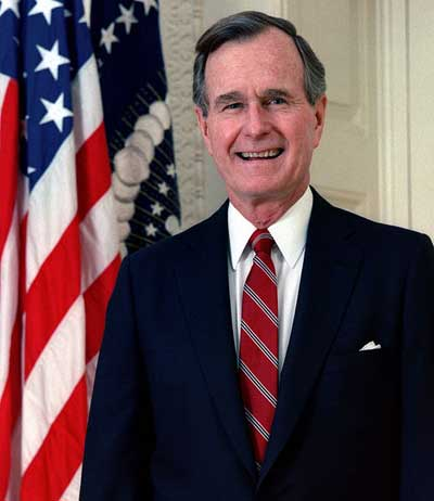 George H W Bush Biography