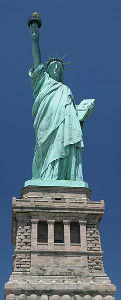 True Color Of The Statue Of Liberty